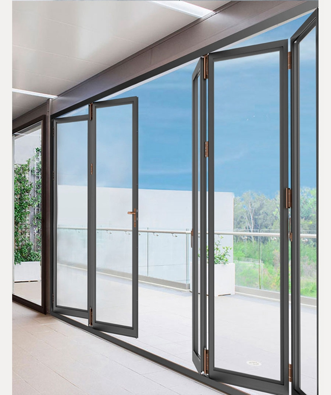 frameless folding glass doors exterior,room dividers accordion folding doors,Scene Application Diagram 2