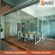 China Soundproof Modern Office Partitions With Aluminum Alloy And Glass Door Material factory