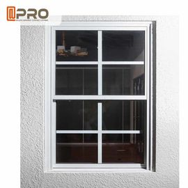 Aluminum Double Hung Windows , Sliding Sash Windows Customized Grills