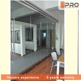 China Sturdy Commercial Office Partitions Aluminium Frame And MDF Panel Pattern factory