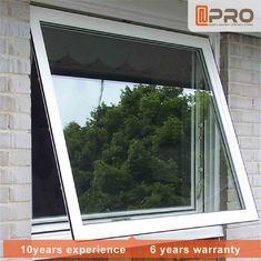 Aluminum Frame Top Hung Casement Window Powder Coating Surface Treatment awning glass window cheap window awning glass