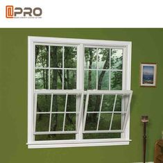 China Air Proof Horizontal Sash Window , Grill Design Aluminum Double Hung Windows factory