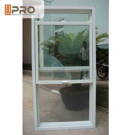 China Heat Insulation Aluminum Sash Windows White Color With Double Tempered Glass factory
