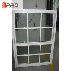 China Aluminum Frame Double Glazed Sash Windows For Residential And Commercial factory