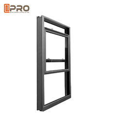 China Dust Proof Aluminum Single Hung Window Powder Coated Surface Treatment factory