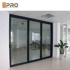 Powder Coated Bullet Proof Aluminium Sliding Glass Doors Customized Size corner sliding door sliding door sensor price