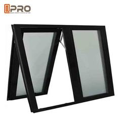 Black Color Aluminium Awning Windows With Chain Winder And Keys For Bathroom glass awning window awning window