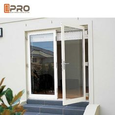 Interior Aluminium Hinged Doors With Double Low E Glass For Residential House price door glass hinge aluminum hings glas