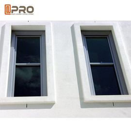 Customized Size Tilt Sliding Aluminium Sash Windows Powder Coated Surface Treatment