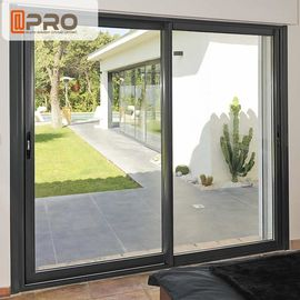 Big Size Black Aluminum Sliding Doors For Dining Room With Thermal Break Design Slide and stack doors Sliding interior