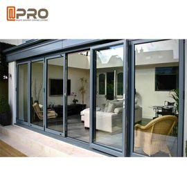Multi - Panel Aluminum Folding Doors For Residential Energy Efficient pleated mesh folding screen door exterior folding
