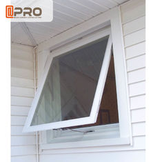 Double Glazing Aluminum Awning Windows / Top Hung Roof Window ISO9001 aluminum window louver awning Aluminum top hung