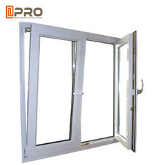 China Anti - Aging Dark Grey Tilt And Turn Aluminum Windows With Mosquito Net factory