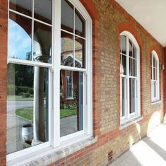 Double Or Single Glazing Hung Aluminum Sash Windows / Vertical Opening Windows