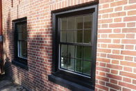 Aluminium Tempered Glass Sliding Sash Windows / Triple Glazed Commercial Grade Double Glazed Sash Windows