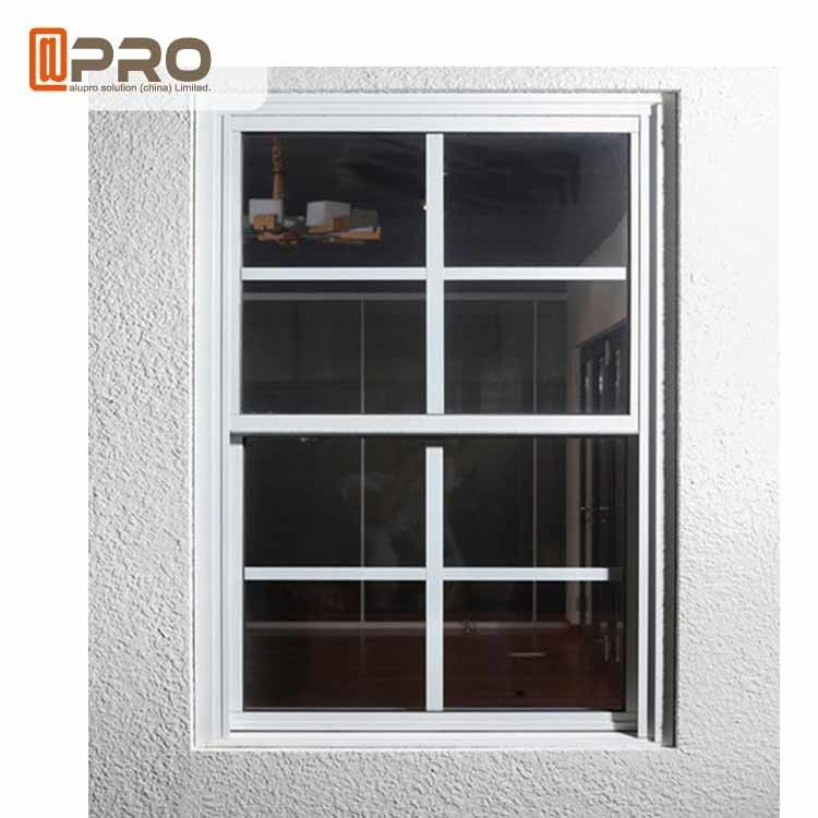 Aluminum Double Hung Windows , Sliding Sash Windows Customized Grills supplier