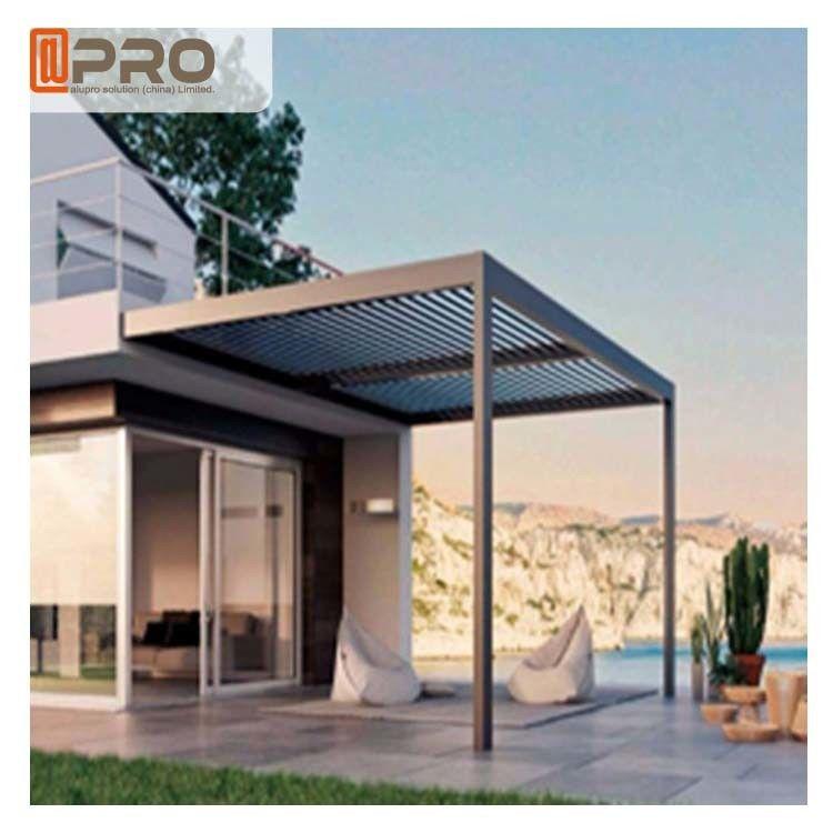 Economical Sunshade Modern Aluminum Pergola With Rain Sensor