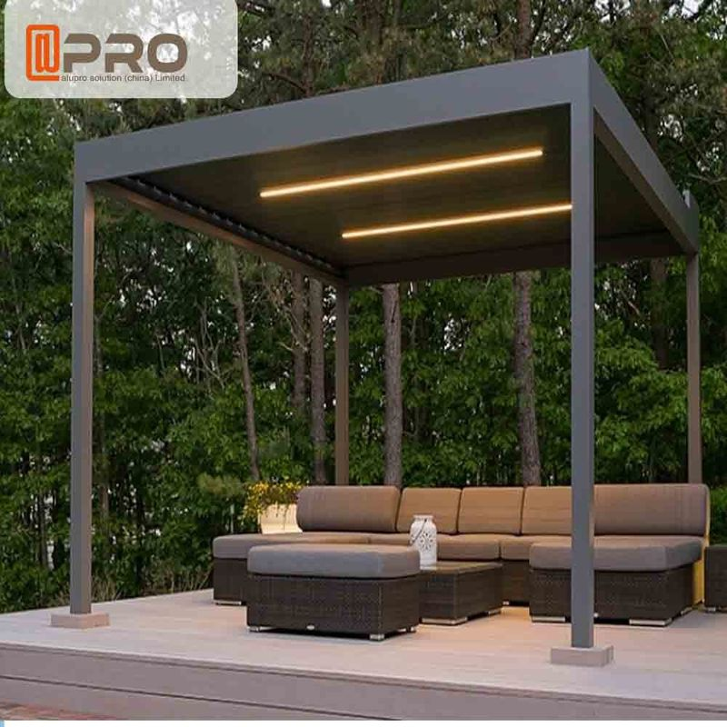 Free Standing Modern Aluminum Pergola Withstand Severe Climatic