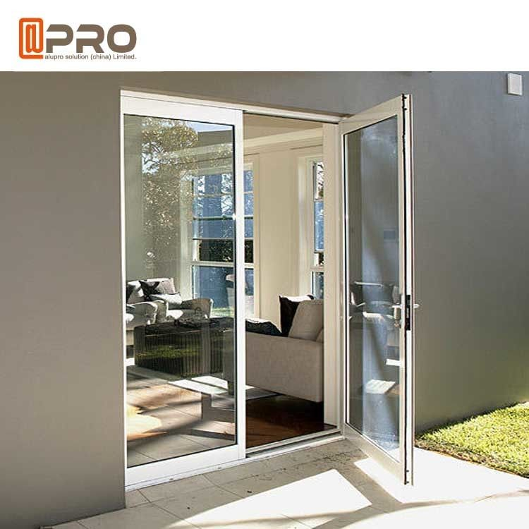Custom Residential Aluminium Hinged Doors , Single Casement Bulletproof Glass Security Door