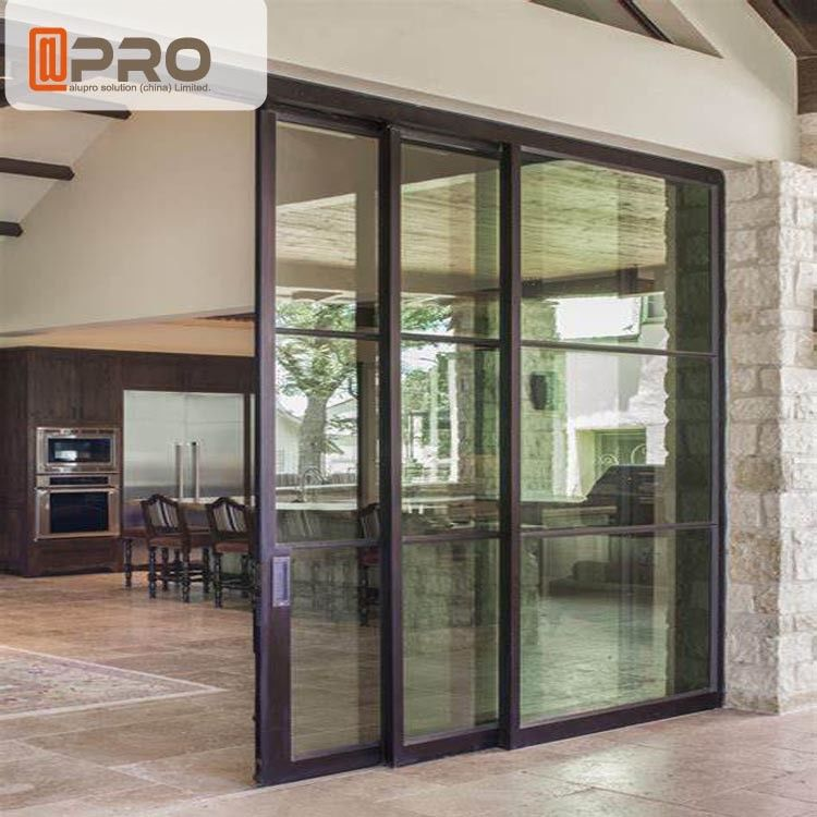 Interior Aluminium Sliding Doors With Glass Inserts For Living Room Aluminum Sliding Glass Screen Door