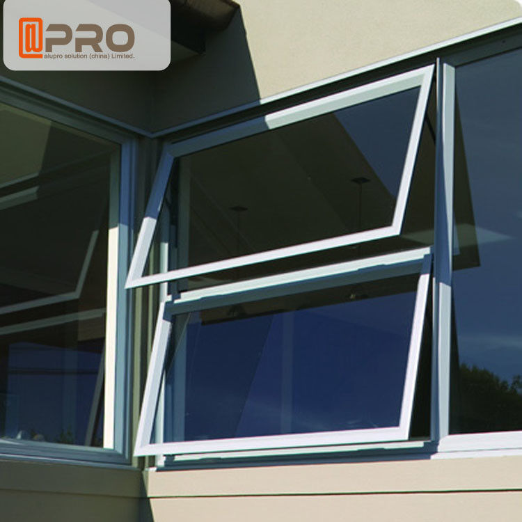Sound Proof Insulation Top Hung Aluminum Awning Windows / Glass Top Hung Windows aluminum window awnings for home