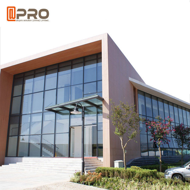 Building Aluminum Profile Double Tempered Glass Exterior Curtain Wall Sound Isolation
