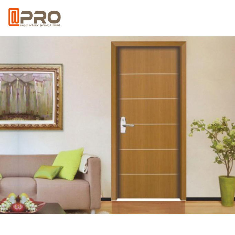 Modern Aluminum MDF Interior Doors For Home / Hotel And Apartment