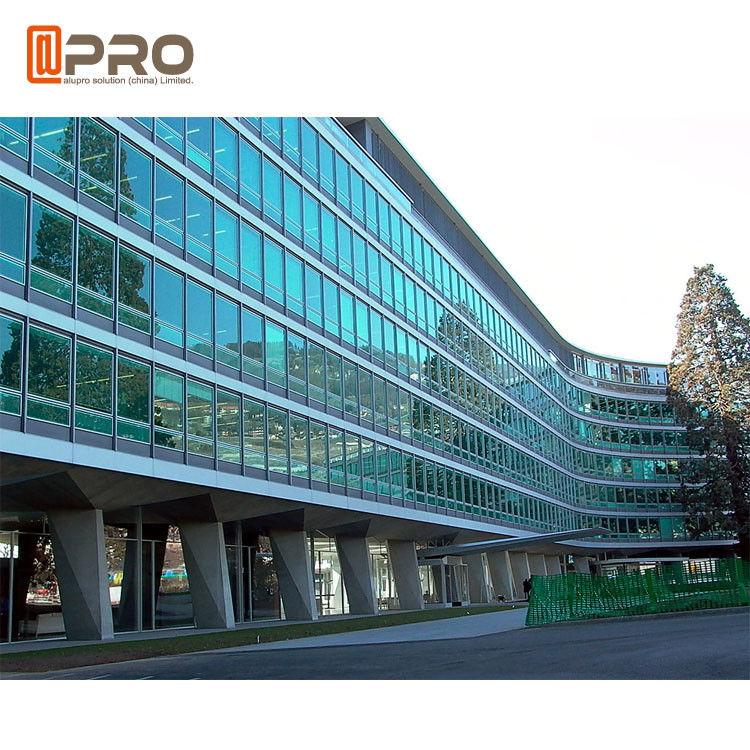 Facade Reflective Glass Invisible Aluminium Curtain Wall For Building Exterior
