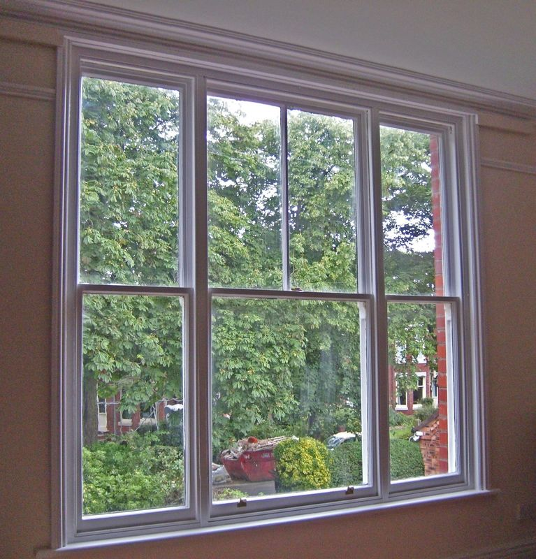 ISO Single Double Hung Window High Security Aluminium Double Glazed Sash Windows In Ventilation Control