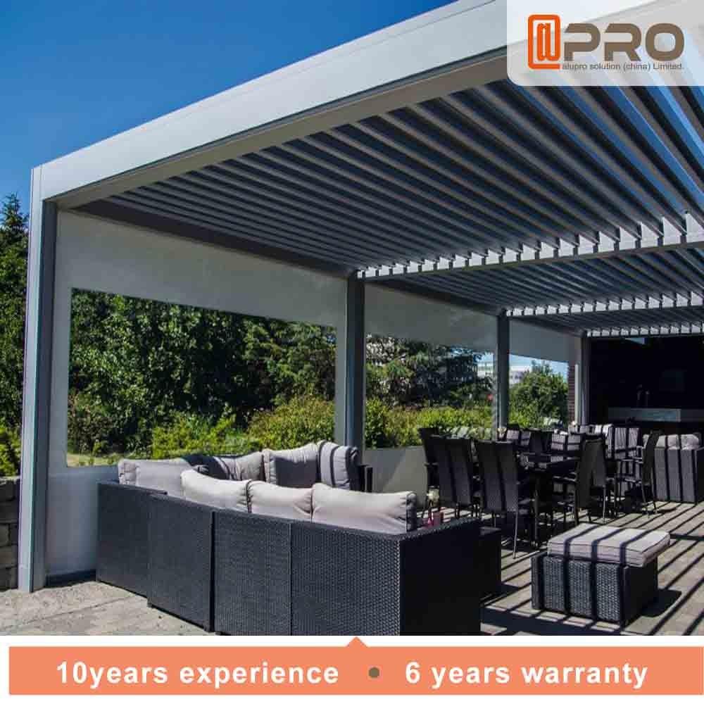 Sunshine Resistant Modern Aluminum Pergola Iso Certification