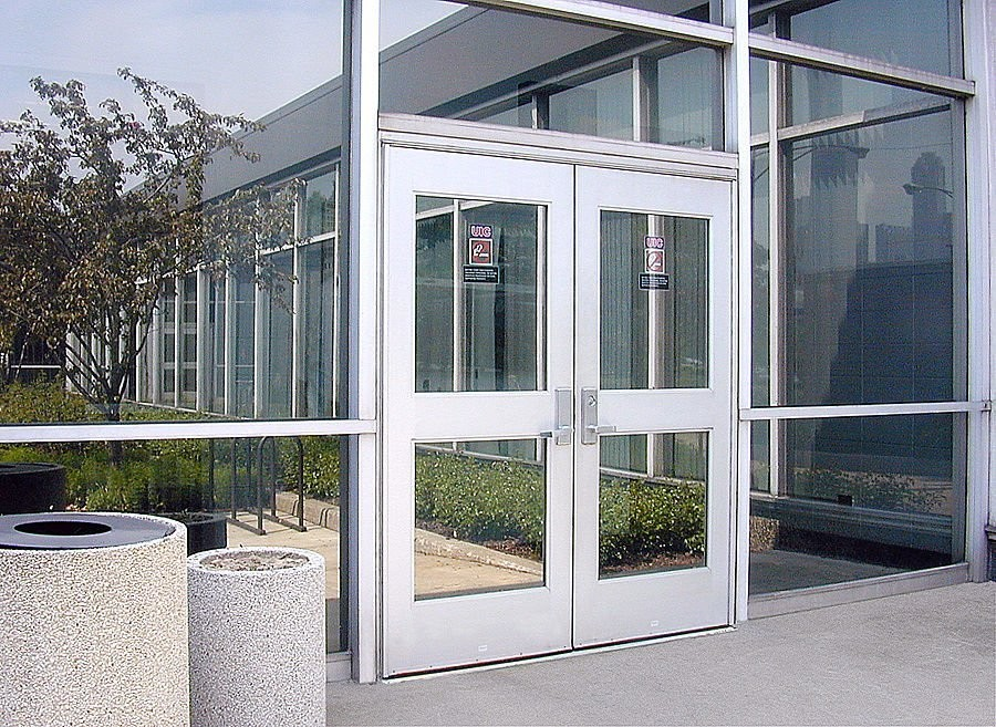 High Strength Durable Aluminium Hinged Doors With PVDF ...
