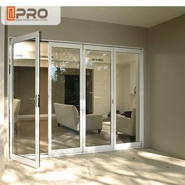 Aluminum Accordion Toughened Layer Tempered Double Glass Door With Argon Gas Aluminium Import Hardware
