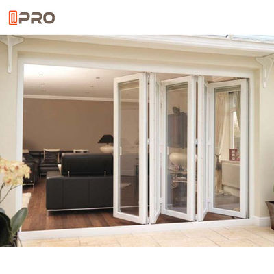 ISO Exterior Bi Sliding Glass Patio 2.0mm Aluminum Folding Doors