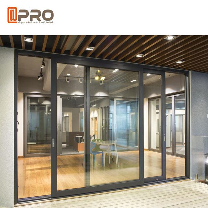 Thermal Break Aluminium Sliding Glass Doors Color Optional ...